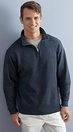 Jerzees NuBlend 1//4-Zip Cadet Collar Sweatshirt