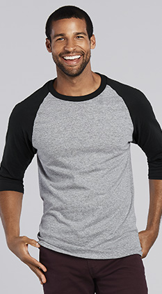 1bd99057e8604 SALE Featured Style Closeout Item New Item Drop Ship Call for Pricing Gildan  Heavy Cotton 3 4 Sleeve Raglan Tee
