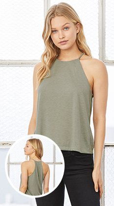 ba9aeffa74203 SALE Featured Style Closeout Item New Item Drop Ship Call for Pricing  Bella+Canvas Women s Flowy High Neck Tank