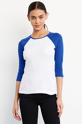 e135c6c6ce BELLA+CANVAS Baby Rib 3/4 Raglan Sleeve Baseball Tee2000 ** Featured Item  ** Closeout Item New Items On Sale - up to 0% off Drop Ship
