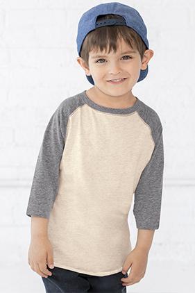 0d2fe01fd 3330 Rabbit Skins Toddler 3/4 Sleeve Baseball T-Shirt   Mission Imprintables