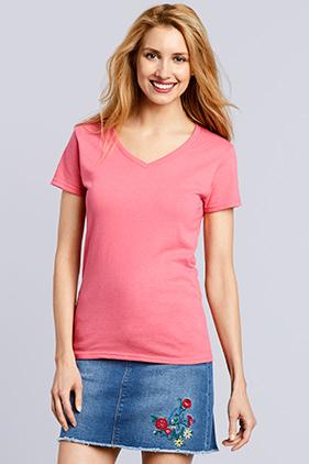 d5084a1b2 5V00L Gildan Heavy Cotton Ladies' V-Neck T-shirt | Mission Imprintables
