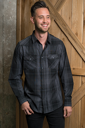 5e99f73a21010 Burnside Men s Long Sleeve Western Plaid Shirt 8206    Featured Item     Closeout Item New Items On Sale - up to 0% off Drop Ship