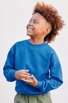 Gildan Heavy Blend YOUTH Crewneck Sweatshirt 18000B S-XL NEW Cotton//Polyester