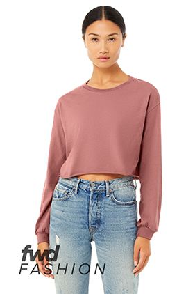 08a1e5dc130 BELLA+CANVAS Fast Fashion Women's Cropped Long Sleeve Tee 6501 ** Featured  Item ** Closeout Item New Items On Sale - up to 0% off Drop Ship